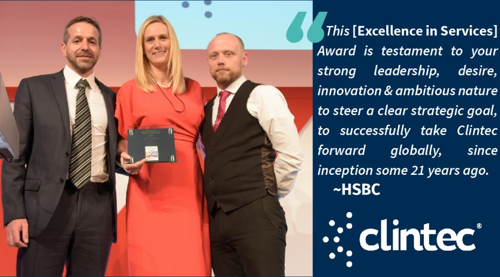 Clintec Wins Excellence in Service Award at Sunday Times HSBC