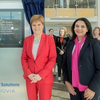 First Minister visits Scotland's leading life sciences employer, IQVA, Wednesday 27, February, 2019.